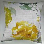 "Cushion Cover in Next Watercolour Flourish Yellow 14"" 16"" 18"" 20"" Matches Curtains"
